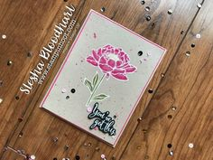 You've Got This Stamp Set by Stampin' Up! White Stampin' Emboss Powder, Watercolor Pencils, Blender Pens and Aqua Painters #you'vegotthis #stampinup #cardmaking #papercrafts #fussy