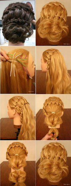 The Double Waterfall French Braid Hairstyle - DIY