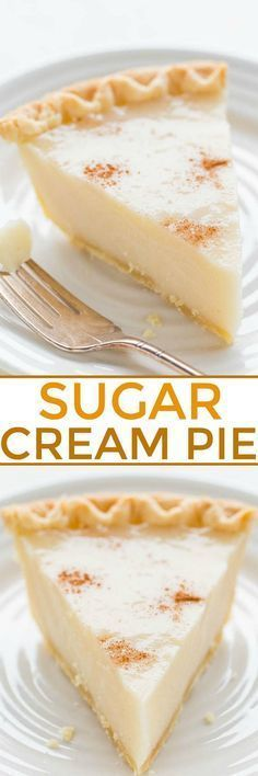 Sugar Cream Pie - An EASY, no mixer cream pie that's guaranteed to set up!! Sweet, rich, creamy, and tastes a lot like the infamous CRACK…