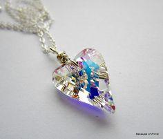 Swarovski Necklace Crystal Necklace Crystal by BecauseofAnnie