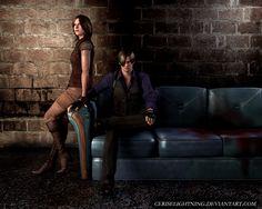 Leon and Helena by ceriselightning.deviantart.com on @deviantART
