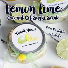 DIY Coconut Lemon Lime Sugar Scrub w/ Free Printables {Great Wedding Favor} - The Cottage Market