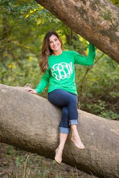 Monogram LOVERS! Everyone must own at least 1 of these adorable large monogram tee's! Customize with your favorite colors! Choose monogram location on the front or back of shirt! 5.4 oz 100% cottonHeat Transfer Vinyl in multiple color choicesPlease list monogram as: First/LAST/middleUnisex FIT (Size Small - 2X) Models are wearing size S. Small: chest 35-37Medium: chest 38-40Large: chest 41-43X-Large: Chest 44-462X: Chest 47-49Best to wash t-shirt inside out to keep mo...