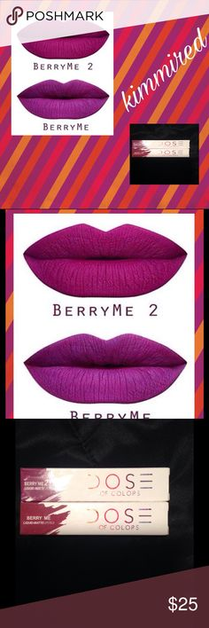 Berry Me & Berry Me 2 Matte Lippie Bundle ~ NIB💋 Both Berry Me & Berry Me 2 💋 I bought an excess stash of these and I have wayyyyyy too much; so I have to downsize. 😔 Dose of Colors Makeup Lipstick