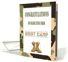 Choose from 5 Military cards for Congratulations On Graduating From The Army's Boot Camp Cards or browse our full range of other 28 Military card. Delivery in 2 to 5 business days. Military Cards, Dog Tags Military, Army Basic Training, Camp Care Packages, Congratulations Greetings, Graduation Cards, Scrapbook Cards, Scrapbooking, Homemade Cards