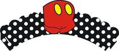 Mickey y Minnie: Preciosos Wrappers y Toppers para Cupcakes para Imprimir Gratis.