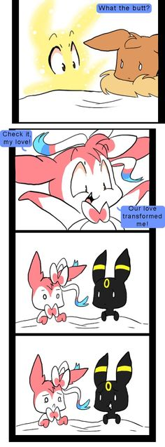 Ok- explanation: the other top of the comic got cut off. You know how Sylveon evolves with LOVE? And Umbreon evolves with FREINDSHIP? The square before showed them on a date. So the Umbreon (girl) just wants to be friends and the Sylveon (boy) wants to be more than that cuz he loves her.