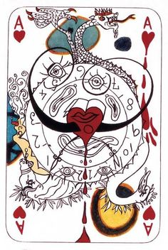Ace of Hearts (1972) - by Salvador #Dali