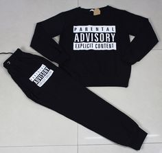 New 2016Sport tracksuits Parental Advisory Jogging suits Set