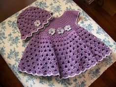 Bumble Bee dress and hat- ravelry by Sandy Furlough