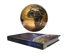 imeek 5.5″ Magnetic Levitation Floating Globe with Book Style Printing Base (Gold)