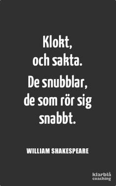 Citat sakta Shakespeare   www.klarblacoaching.se