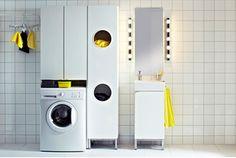 LILLÅNGEN Serie, hier u. a. mit LILLÅNGEN Wäscheschrank in weiß