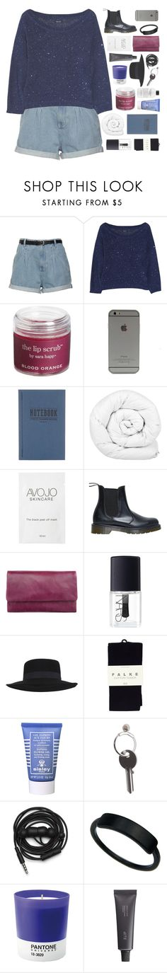 """""""STARRY SKIES IN THE CITY"""" by absurd-ambitions ❤ liked on Polyvore featuring Splendid, Sara Happ, Tanner Goods, Brinkhaus, Dr. Martens, Status Anxiety, NARS Cosmetics, Miss Selfridge, Falke and Sisley"""