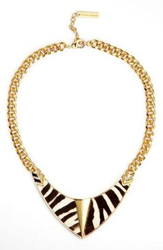 On trend for fall: Call of the wild bib necklace
