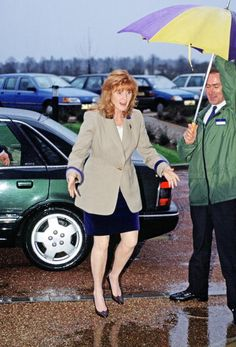 December 08, 1994--The Duchess Of York Arriving At The Mnda Christmas Party At Denbies' Wine Estate In Surrey
