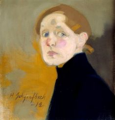 Helene Schjerfbeck (Finnish painter) 1862 - 1946 Self-Portrait, 1912 oil on canvas x 42 cm.) signed and dated low left Helene Schjerfbeck, Painting People, Figure Painting, Painting & Drawing, L'art Du Portrait, Nordic Art, Figurative Art, Painting Inspiration, Female Art