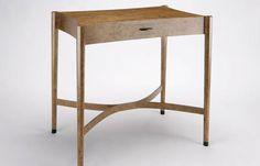Raised on slender tapered octagonal legs. http://www.makerseye.co.uk/designers/d/philip-dobbins/side-table-in-burr-oak-with-ebony-detail/ #MakersEye #bespoke #furniture #design #BritishCraftsmanship #interiors #lifestyle #BritishDesigners #Luxurious #chic #decor #table