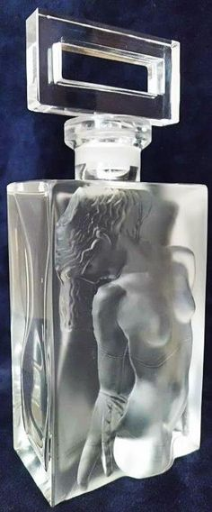 Art Deco Czech Crystal Nude Perfume Bottle, More Deco and Nouveau glass on their own board. Glass: Nouveau and Deco.