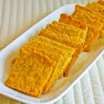 Recipe for Cheese Crackers with Almond Flour (Gluten Free), instead of canola oil use coconut oil  and make it really healthy...delicious!