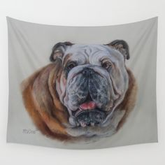 """Bulldog bitch Wall Tapestry   Good idea for home decoration .:) 15% Off + Free Shipping on Tapestries Today! size small 51 x 60 """" , medium 68 x 80 """" , large 88 x 104"""" Art prints, throw pillows, iPhone skins , postcards and many more with this same motif available also."""
