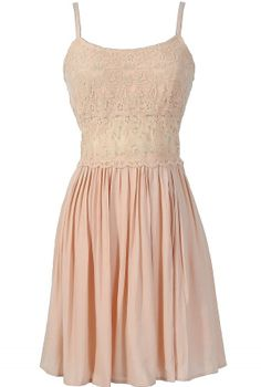 Peace and Love Crochet Floral Lace Dress in Pale Pink  www.lilyboutique.com