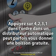 Saviez Vous Que? | Découvrez de nouvelles infos pour briller en société ! Good To Know, Did You Know, Crazy Meme, French Quotes, Pause, Coincidences, Funny Facts, Things To Know, Affirmations