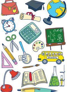 Free cartoon school vector elements