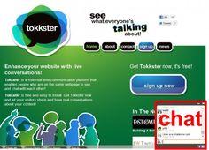 Tokkster est un site qui permet d'installer facilement un système de tchat sur votre site web.