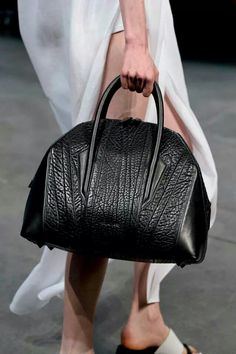 Helmut Lang bag via Mohej Magazine from NYFW SS13.