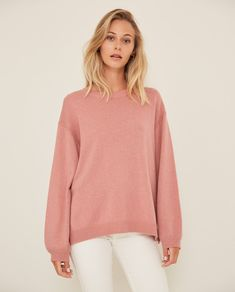 Jersey de mangas abombadas rosa Bell Sleeves, Bell Sleeve Top, Boutique, Moda Online, Pullover, Sweaters, Irene, Women, Products