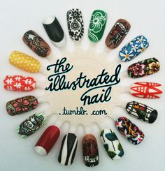 theillustratednail:  VINTAGE VIBES!  I am all about vintage style, and these are a great way to showcase your love for vintage prints even when you're wearing a work uniform!