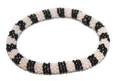 Glass Bracelet Nepal Bracelet Roll on Bracelet Crochet Bracelet Glass Bead Bracelet Friendship Bracelet 351