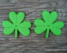 This pattern can be used to make pins, appliqus, ornament, and lots more. Multiple sizes provided! Think of all the party gear that could be made more awesome simply by hanging a handmade shamrock on it: wine glasses, garlands, balloons, lamps, hats, shirts, shoes…