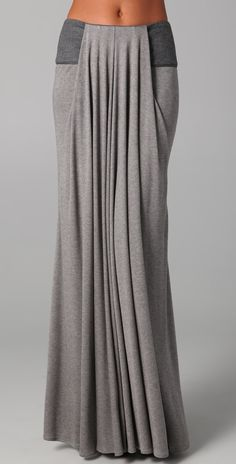 Doo.Ri Long Draped Skirt with Leather Trim | SHOPBOP so cute but the price is INSANE!