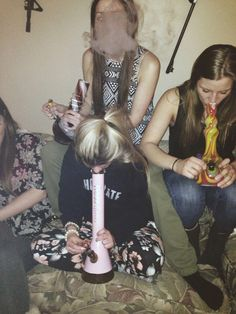 Hitting bongs - remember those parties? They never seemed to end! #Bongs