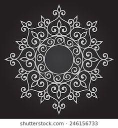 . Mandala. Vector Illustration. Free Hand Rangoli Design, Rangoli Border Designs, Small Rangoli Design, Rangoli Designs Images, Rangoli Designs With Dots, Rangoli With Dots, Beautiful Rangoli Designs, Mandala Design, Mandala Drawing