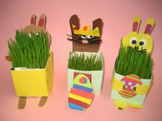 Kuvis ja askartelu Easy Easter Crafts, Easter Art, Crafts For Kids, Arts And Crafts, Spring Crafts, Art School, Origami, Recycling, Jar
