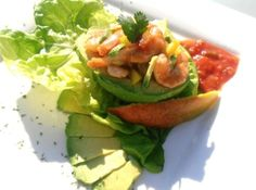 Acapulco Avocado Salad-  nope - not what I am looking for....google Mexican shrimp cocktail for great suggestions........