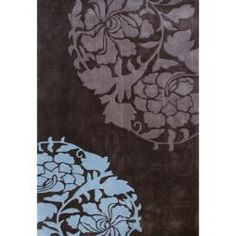 Handmade Alexa Pino Rose Fantasy Brown Rug (76 x 96), $316.99 | www.findbuy.co/brand/rugs-usa #RugsUSA