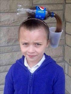 Bildschirmarbeiter - Picdump - So Funny Epic Fails Pictures Crazy Hair Day At School, Crazy Hair Days, Great Hairstyles, Girl Hairstyles, Funny Hairstyles, Wacky Hair Days, Biotin Shampoo, Zeina, Crazy Hats