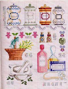Canisters, basket, jars