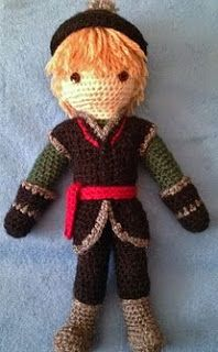 http://www.ravelry.com/patterns/library/kristoff-crocheted-doll-pattern