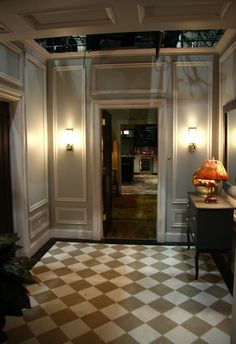 "Set of ""the good wife"" - this picture frame molding, floor, and lighting are great inspiration details!"
