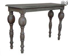 Grey reclaimed wood table
