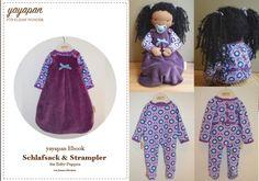 Nähanleitungen Kind - Ebook Puppen-Schlafsack & Strampler / Anlei... - ein Designerstück von yayapan bei DaWanda