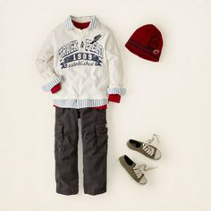 another boy outfit not liking the pants so much.. the children's place