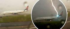 Enquanto esperava pelo seu voo no aeroporto de Atlanta (Estados Unidos), este passageiro filmava as más condições atmosféricas. De repente, um raio atingiu um avião, Boeing 737, que se encontrava prestes a descolar… TopaIsto