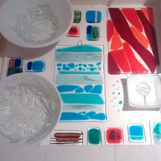 Fused glass homeware jewellery & art made in by UrbanGlassStudio