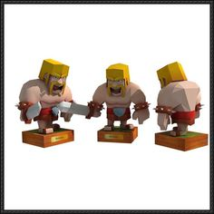 Clash of Clans - Barbarian Free Papercraft Download - http://www.papercraftsquare.com/clash-clans-barbarian-free-papercraft-download.html